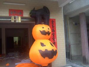 China Fantasma asustadizo del invierno del artefacto del márketing de los productos del horror inflable pálido de Halloween on sale