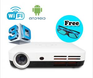 China Wifi Android 4.2 1080p 3D Mini Projector Smart Full HD LED lamp DLP Projectors on sale