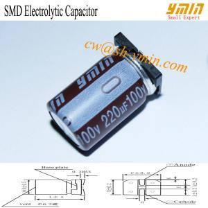 105°C 6000 - 8000 Hours 220uF 100V SMD Capacitor SMD Aluminum