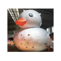 0.9 Mm Plato PVC Big Inflatable Water Toys / Floating Blow Up Duck For Pool
