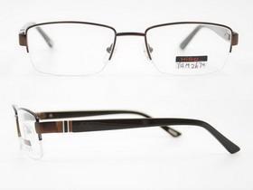 China fashionable designer semi rim eyeglasses frame on sale
