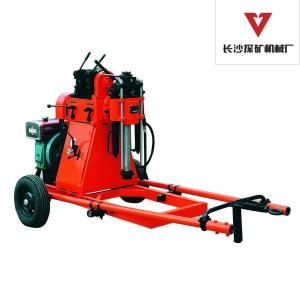China Exploration Core Geotech Portable Drilling Rig Equipment With 2 Wheels Trailer on sale