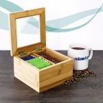 bamboo tea box empty tea box with special design high quality and eco-friendly
