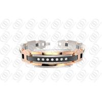 316L Stainless Steel Bracelets with Diamonds , Rose Gold Plated Bangle
