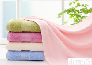 China Comfortable Satin Cotton Bath Towels For Hotel / Home 400-600gsm on sale