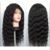China Front Lace human hair curly wigs With Baby Hair Around , deep loose wave human hair on sale
