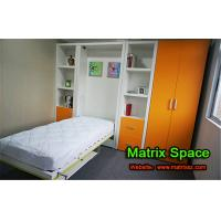 Kids Vertical Wooden Single Murphy Wall Bed Bedroom Furniture With Dining Table