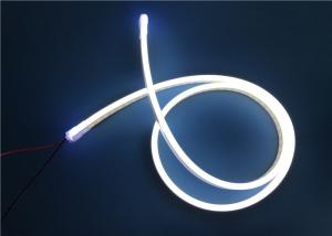 China Pink And Ice Blue Silicone Rope LED Ribbon Lights 12 / 24V IP67 on sale