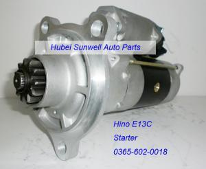 China Hino E13C engine starter 0365-602-0018 on sale