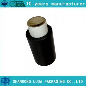 China Black Pallet Wrapper Black Cling Film Black Stretch Film on sale