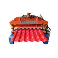 Automatic Glazed Tile Making Machine , Corrugated Wall Panel Roll Forming Machine