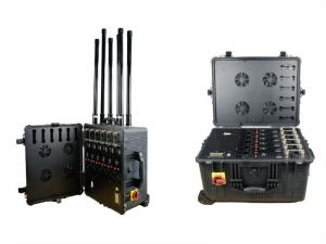 China 8 Antennas Drone Signal Jammer / 2.4 Ghz Frequency Jammer With 2 Hours Inner Battery on sale