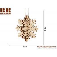 Laser plywood 3D snowflake ornament, Xmas tree decoration, wood shape craft supply, unpainted DIY Christmas, winter wood