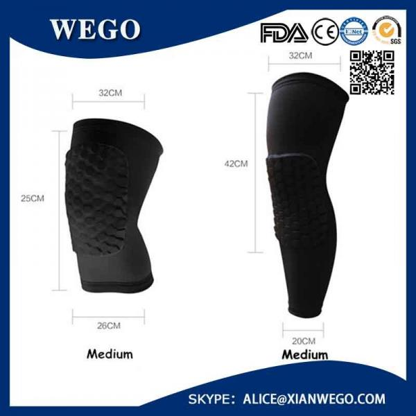 Practical Honeycomb Pad Crashproof Basketball Protect Gear Long Leg Knee Sleeve Images