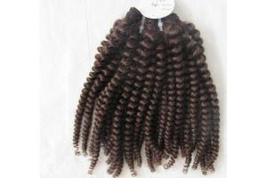 China Virgin Indian Curly Hair extension on sale
