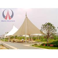 Wind Resistant Triangle Shade Canopy , Safety Swimming Pool Shade Canopy 1000g / M2 Weight