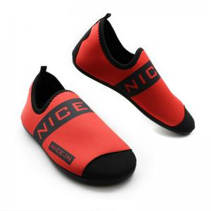 China Red Neoprene Winter Fur Shoes Neoprene And Faux Fur Synthetic Upper Material on sale