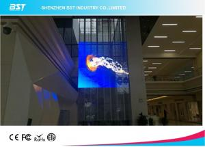 China SMD2121 P3.91 Transparent LED Screen LED Mesh Curtain Super Clear Vision on sale