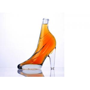 China Home Decoration Fantastic Women High Heel Clear Glass Wine Bottle on sale