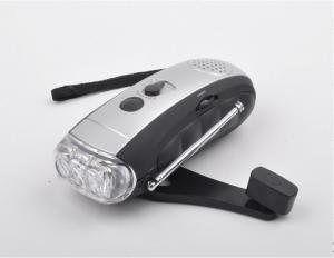 China Outdoor use dynamo flashlight with LED light on sale