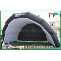 Giant Oxford Cloth Black Inflatable Air Tent For Music Stage Custom Printed
