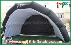 China Giant Oxford Cloth Black Inflatable Air Tent For Music Stage Custom Printed on sale