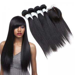 China Dyeable Double Wefted Real Indian Human Hair Weave Luster And Silky on sale