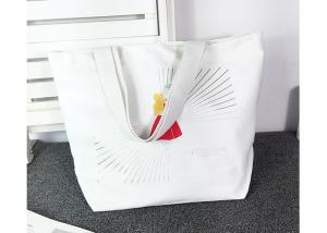 China Reusable Canvas Grocery Bags , Large Tote Shopper Bag Custom Brand Printed on sale