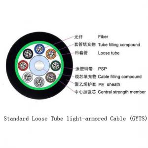 China Flexible Outdoor Fiber Optic Cable Crush Resistance Standard Loose Tube Light - Armored on sale