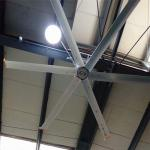 Large Industrial HVLS Ceiling Fans 11ft 0.75KW With Aluminum Alloy Blades