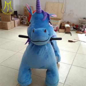 China Hansel  battery operated electric stuffed walking toy unicorn rides supplier on sale