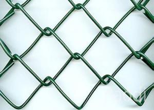 China Stadium Green Chain Link Mesh Fence PVC Coated Fabric With Flat Surface on sale
