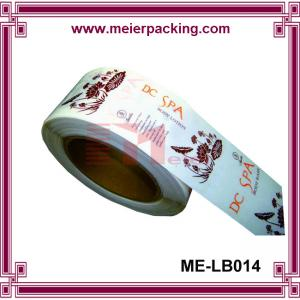 China Clear matte label sticker/Transparent cosmetic sticker/CustomRoll Stickers  ME-LB014 on sale