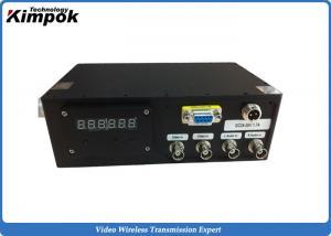 China Long Range Video Sender 10 Watt HD Wireless Transmitter H.264 Coding Format on sale