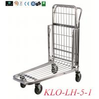 Warehouse cargo Trolleys With foldable middle platform in zinc powder