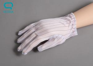China M Size Cleanroom Gloves ESD Fabric Material Polyurethane Coating Surface on sale