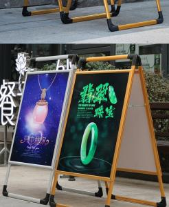 China Portable Retail Poster Display Banner Stands For Shops Professional Design on sale