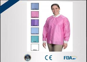 China Eco Friendly Disposable Lab Coats , Sterile Disposable Visitor Coats on sale