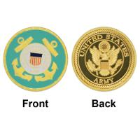 Hot New United States Coast Guard Gold Plated Coin Unique American Military Commemorative Coins Souvenir Challenge Coin