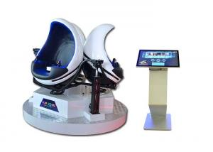 China 3 Seats 9D Egg VR Cinema With 6 Special Effects , Virtual Reality Motion Simulator on sale
