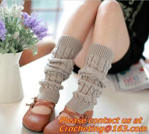 China Lace,Trim Crochet Knit Foot Knee High cotton socks use for women Leg Warmers and Boot Sock on sale