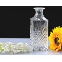Superior embossed clear Glass Wine Bottles with cork lid , Machine made