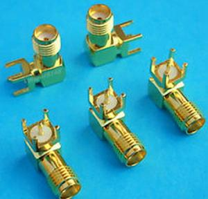 China Right Angle SMA RF Coaxial Connector For PCB on sale