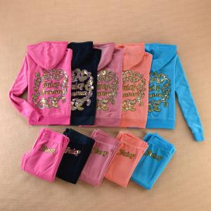 Quality Juicy Couture Women s Tracksuit Velvet Sportwear Set 8601 5 Colors  4 Sizes for sale ... 4fdd8bb1337e