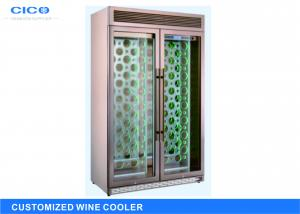 China Rose Gold Dual Control Wine Cooler With Security Lock CE Certification on sale