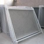 Galvanized chain link popular size temporary fence with stable basement