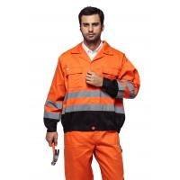 Orange / Yellow  High Visibility Jackets , Reflective Safety JacketEN ISO 20471