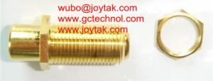 China Coaxial Adapter Coaxial Adaptor RCA Female To F Female Screw On Connector / RCAF.FF.03G on sale