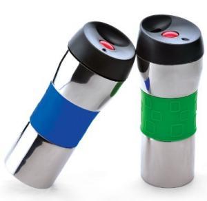 China Thermal travel coffer Mug with press lid/Buttoned mug on sale