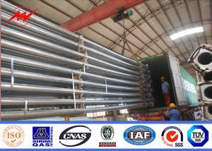 China Q345 Q235 GR65 Steel Power Pole , Electric Steel Unitity Pole Long Serive Lifetime on sale